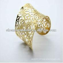 Braceletes de ouro mais recentes desenhos pulseira de aço inoxidável para as mulheres pulseiras e pulseiras