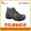 Best Selling Schwarz Leder Sicherheitsschuhe S3 Src RS004