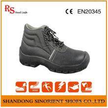 Sapatos de segurança de couro preto mais vendidos S3 Src RS004