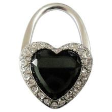 Porte-monnaie promotionnelle en forme de coeur avec diamant en cristal (F2017)