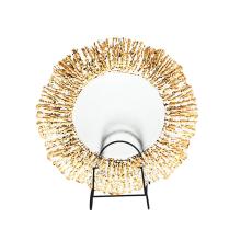 Золотые стеклянные тарелки