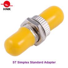 St Simplex Singlemode Adaptador Padrão de Fibra Óptica de Metal