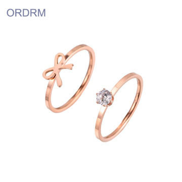 Rose Gold Wedding Ring Set Hans och hennes