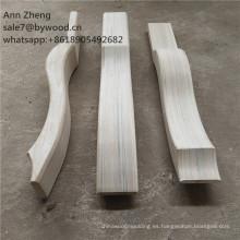 piezas de la suite patas de madera fuerte sin pintar muebles de madera pies