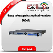 High Performance 8 Way Headend Return Path Indoor Optical Receiver