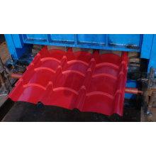 Color automático Azulejos esmaltados rodillo de acero que forma la máquina / línea de proceso de techado