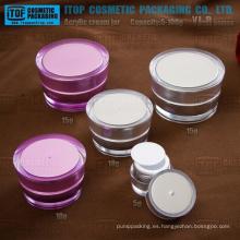 La serie YJ-R 5g 10g 15g 30g 50g 75g 100g promocional forma cónica acrílico frascos para cosméticos