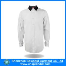 Trabalho de algodão de manga longa mais recente Uniforme formal projeta para homens