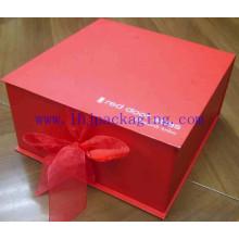 Caixa de dobra vermelha personalizada do chocolate
