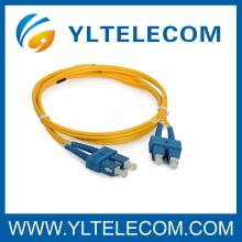 Cabo de remendo do SC da fibra óptica com a chama da fibra 1M de Corning - retardador