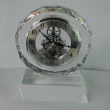 Faces Crystal Silver Clock Trophy Crafts com Base Aceitar Logotipo