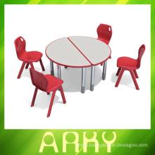 Splicing type plastic student table for kindergarten