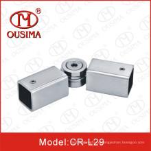 Conector de tubo quadrado ajustável de aço inoxidável