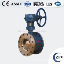hard seal wafer type eccentric semi handle ball valve