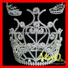 Charming princess hair accessories crystal pageant crown tiara for girls