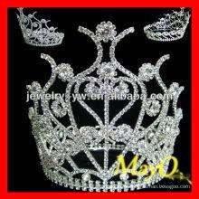Encantadora princesa cabelo acessórios cristal concerto coroa tiara para meninas