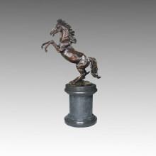 Tier Bronze Garten Skulptur Pferd Springen Messing Statue Tpal-195