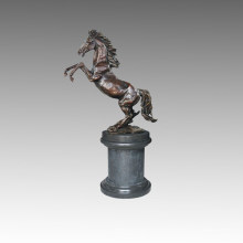 Animal Bronze Garden Sculpture Horse Jumping Brass Statue Tpal-195