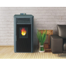 Indoor Using Double Door Pellet Stove with Remote Control