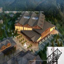 Стальная система Ферменной конструкции с алюминиевой панелью устройство для больших здания пролетом