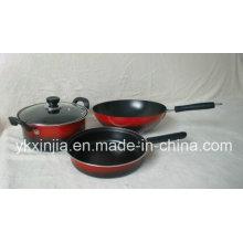 Utensílios de cozinha em aço carbono não-Stick Cookware conjunto