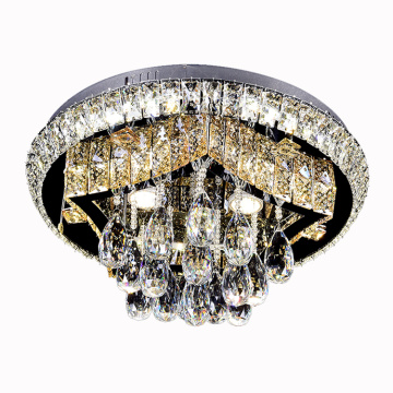 lampadario a led decorativo a soffitto in cristallo