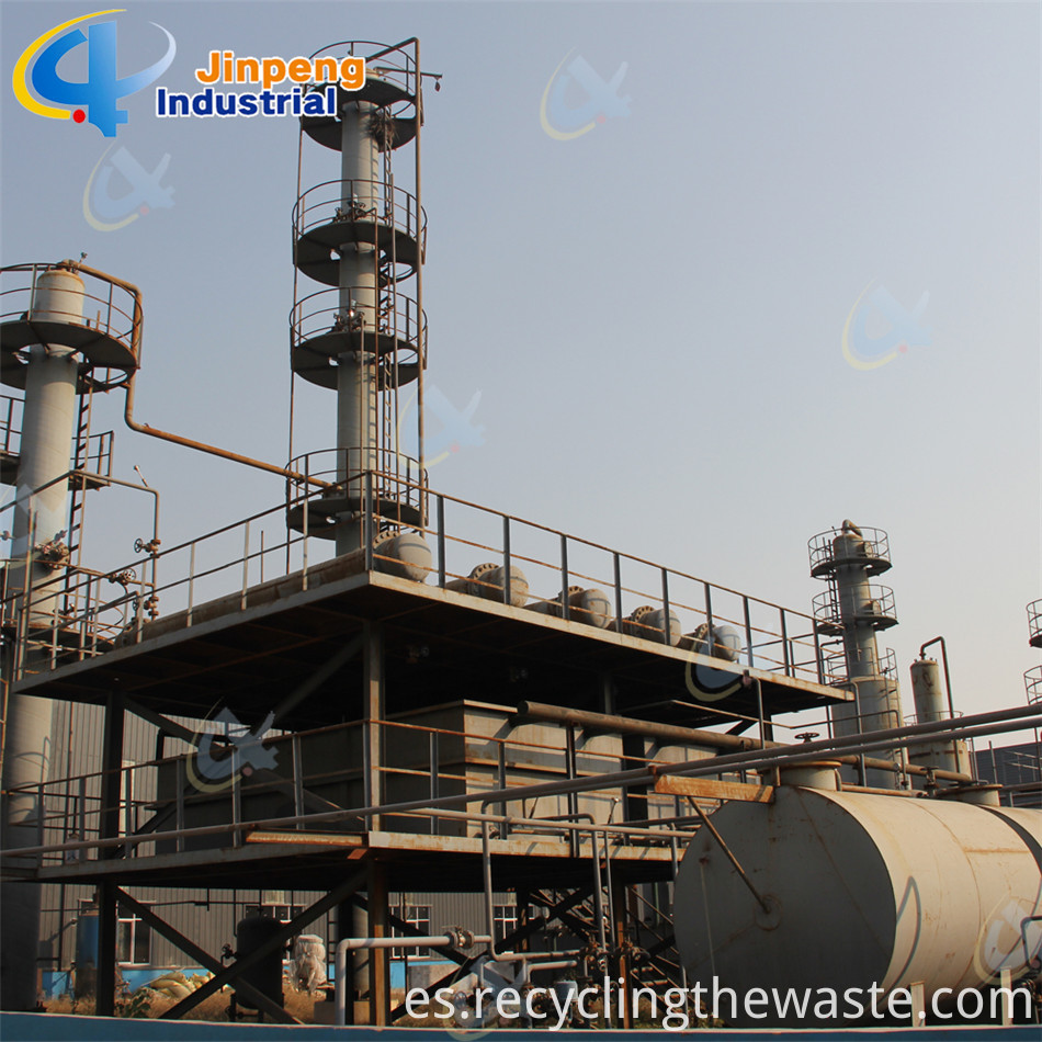 continuous fuel oil recycling plant