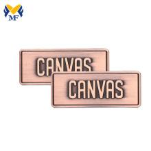 Custom Brand Small Metal Logo Tags For Handbags