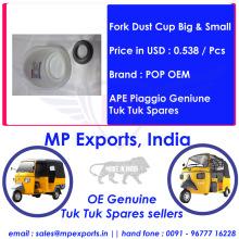 Tuk tuk Spares Fork Dust Cup Big & Small Ape Piaggio