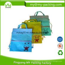 Sac à dos de sac de cordon de tissu d'Eco Friendly