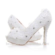 Hot Sale Chaussure à talons hauts Chaussure Femme Chaussures de mariage Silver / Red Sequins WS002