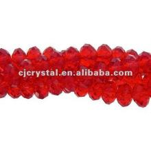 Fantaisie de perles de verre Siam Rondelle en gros