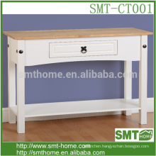 Solid wooden white console table /classic console table