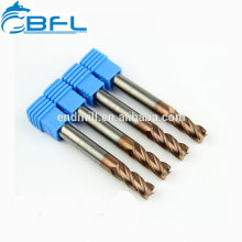 BFL CNC Metal Cutting Flat End Mill Coated/Carbide Cobalt Square Endmill Tool