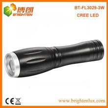Fabrik Versorgungsmaterial-hohe Leistung Bewegliche Aluminiumdimmer-Tasche XPE 3W Cree Masse führte Mini-Taschenlampen mit 1 * AA oder 14500 Batterie