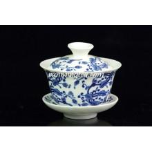 Ganoderma Lucidum Flower Chá De Porcelana Chá E Saucer Conjuntos