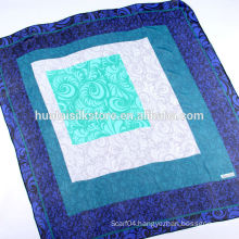 110*110 Hand Rolled Silk Georgette Square Scarf