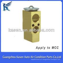 Auto partes de ac da válvula de expansão de alumínio para MCC