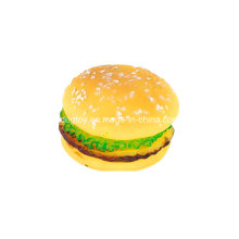 Vinyl Hamburger Pet Food Toy