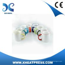 Дешевые 11oz керамическая кружка с ручкой цвета для сублимации