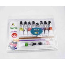 12ml diy 12pcs conjunto de pintura de acuarela