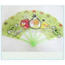 cartoon plastic folding hand fan