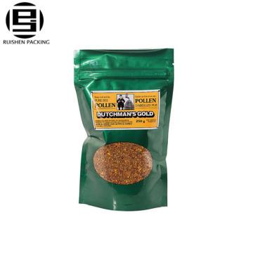 Lebensmittelqualität laminiert Pe gedruckt Zip-Lock-Reißverschluss Kunststoffbeutel Taschen mit Fenster wiederverschließbare Tasche / Zipper Bag