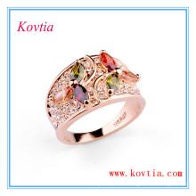 Anneau de mariage en diamant cubique coloré en zircone RE0432
