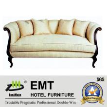 Sofá moderno del hotel del estilo fijó los muebles de madera fijados (EMT-SF33)