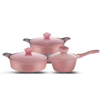 6pcs Die-cast Aluminium Cookware Set