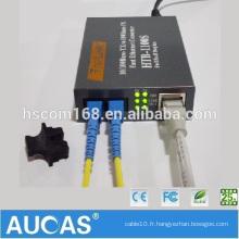 Ordinateur Convertisseurs de médias Ethernet China Market Tension de signal de télévision numérique Convertisseur de fibre de conversion 10 / 100m