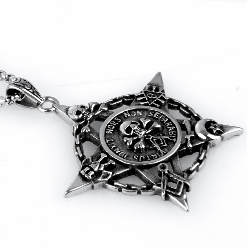 Customized Fashion Five-pointed Star Skull Head Pendant