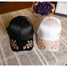 Embroidery Flower Cap Satin Embroidery Baseball Cap
