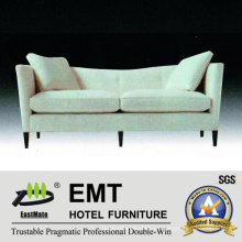 Sofá moderno simple del estilo del blanco fijó el sofá del hotel de la estrella (EMT-SF46)
